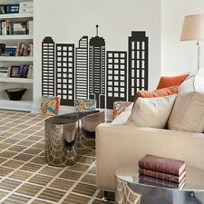 City Skyline Silhouette Wall Decal Inspiration Simple Geometric Vinyl Art Decor