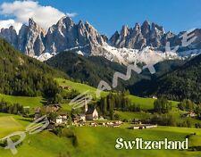 Switzerland - summer landscape - Travel Souvenir Flexible Fridge Magnet