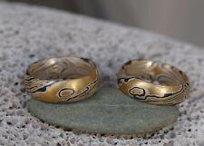 Trauringe Mokume Gane Gold 900 Palladium 500 Silber 925 Holzmaserung mit Augen