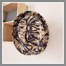 Avant 14€90 Borsalino chapeau vacances plage effet paille beige et bleu palmier