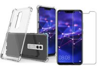 For Huawei Mate 20 lite Case Gel Cover Shockproof & Glass Screen Protector 360