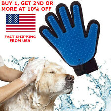 Deshedding Pet Dog Cat Grooming True Glove Touch Hair Removal Brush Massage
