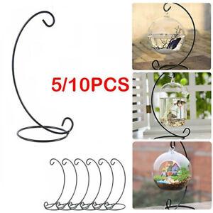 Christmas Bauble Holder Ornament Hanging Display Stand Hanger Metal L Shape UK