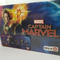 CultureFly Captain Marvel Collectors Gift Box Hat, Fanny Pack, Patches, Decals