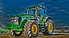 """John Deere Tractor -Artistic- 42"""" x 24"""" LARGE WALL POSTER PRINT NEW."""
