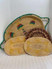 Straw Woven Wicker Hot Pads Trivets Pot Holders 1 Casserole Size
