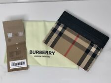 Burberry Unisex Vintage Check and Leather Card Case