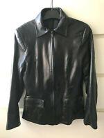 HENCEFORD Paris Veste Blouson cuir Agneau Plongé noir Black Lamb leatherJacket