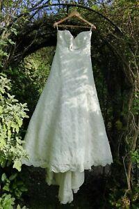 Stewart Parvin Wedding Dress Strapless Train Approx UK M Y40 A101