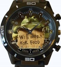 Frog Will Work For Food Funny New Gt Series Sports Wrist Watch