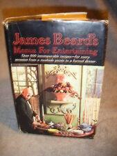 JAMES BEARD'S MENUS FOR ENTERTAINING 1965 COOKBOOK
