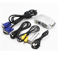 PC/Laptop/CCTV VGA to TV AV RCA S-Video Converter Adapter Box Composite HDTV