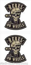King Kerosin Set Rebel on Wheels Aufkleber Sticker Rockabilly Oldschool V8 Retro