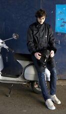 Armadillo Scooterwear Mens Macintosh Black Motorcycle Scooter Jacket NEW
