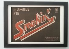 HUMBLE PIE*Smokin*red ink*1972*ORIGINAL*A4*ADVERT*FRAMED*FAST WORLD SHIP