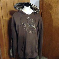 Legendary Whitetails Brown 70% Cotton Hooded Sweatshirt Jacket Size 3XL XXXL