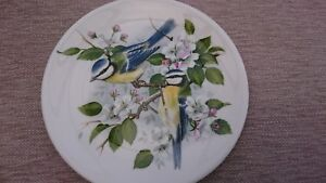 Birds Of The Hedgerow Plate - R J Heritage Blue Tit With Apple Blossom