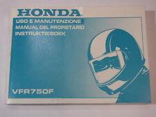 HONDA VFR750 1996 OWNER MANUAL DEL PROPIETARIO INSTRUKTIEBOEK USO E MANUTENZIONE