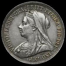1900 chelín plata de Reina Victoria velada cabeza – ef