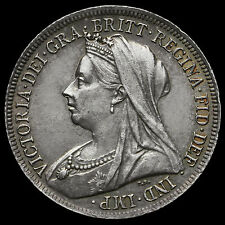 1900 Queen Victoria Veiled Head Silver Shilling – EF