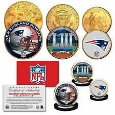 2019 SUPER BOWL 53 CHAMPIONS NEW ENGLAND PATRIOTS NFL LOGO 24KT GOLD 3 COIN SET!