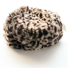 WOMANS RUSSIAN STYLE ANIMAL SKIN DESIGN FUR HAT BY BOUTIQUE ONE SIZE