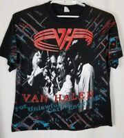Men's Van Halen 1991 Concert Shirt For Unlawful Carnal Knowledge Black Size XL