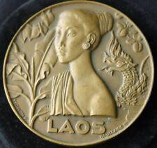 Messageries Maritimes SS LAOS Bronze Medal 1954