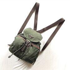 Prada Vela Nylon Authentic Green Backpack Vintage Mini Hobo Crossbody Waist Pack