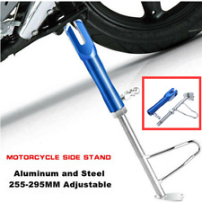 1pcs Aluminum Motorcycle Side Stand Kick Stand Blue CNC Support Stand Adjustable