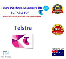 Telstra 3GB DATA Prepaid SIM CARD For internet Standard Size (OFFER) Oz Seller