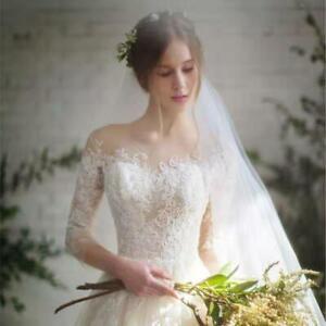 New Customized A Line Ivory Lace Wedding Dresses Plus Size Beach Wedding Dress