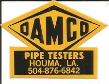 Sticker-DAMCO Pipe Testers,Houma,LA,stylized lettering,Advertising.melaneybuy US