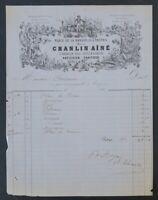 Facture TROYES 1860 Pâtissier Traiteur CHANLIN truffes du Périgord illustrée 62