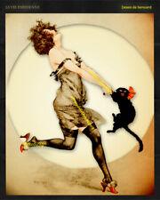 LADY & CAT DANCE 8x10 vintage La Vie Parisienne reproduction Herouard art print
