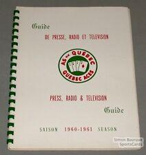Original 1960-61 Quebec Aces Hockey Press Book