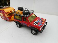 1:25 JADITOYS PICK UP TRUCK 4 x 4   WITH  VINTAGE CARAVAN  N MINT RARE!!