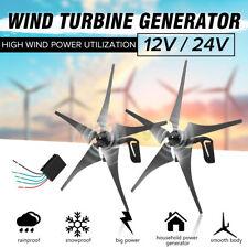800W 12V / 24V Wind Turbine Generator Kit DC 12V Charger Controller Home