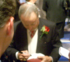 Bobby Bowden signed 2010 Bear Bryant award football Florida State Seminoles JSA