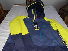 Oneill distrito 2 Esquí Abrigo Bnwt Talla pequeña veneno Amarillo/Azul