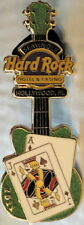 Hard Rock Hotel HOLLYWOOD FL 2011 Blackjack GUITAR PIN Ace & Jack Playing Cards