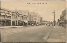 View on Central Avenue in East Orange NJ Postcard