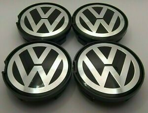 VW Volkswagen 4x63mm Passat Sharan Alloy Wheel Center Hub Caps Set 7D0601165