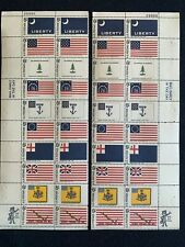 TCStamps Sc#1345-54 Liberty Flags MATCHED SET PLATE BLOCKS Postage Stamps MNH 77