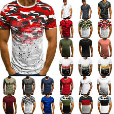 Summer Casual Mens Short Sleeve Round Neck Gym Sports Muscle T-shirt Tops Shirt