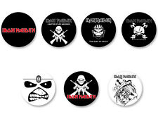 Lot Pack Magnet Aimant Ø38mm Logo Iron Maiden Heavy Metal Hard Rock UK