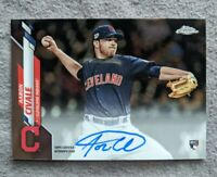 🔥🔥 Aaron Civale 2020 Topps Chrome ON-CARD AUTO RC Cleveland Indians