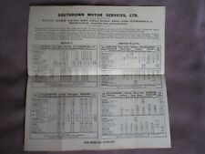 1945 SOUTHDOWN MOTOR SERVICES TIMETABLE 71 75 75A HORSHAM