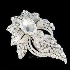 Énorme Fleur Floral Avec Cristal Swarovski Broche Mariage Broche Mariée Bijou