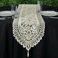 """14x108"""" Ivory LACE TABLE TOP RUNNER Wedding Party Dinner Decorations Linens SALE"""